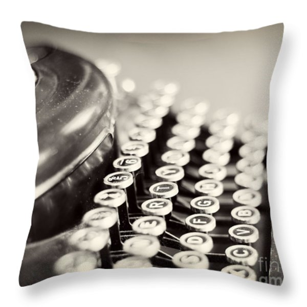 Antique typewriter Throw Pillow by Ivy Ho