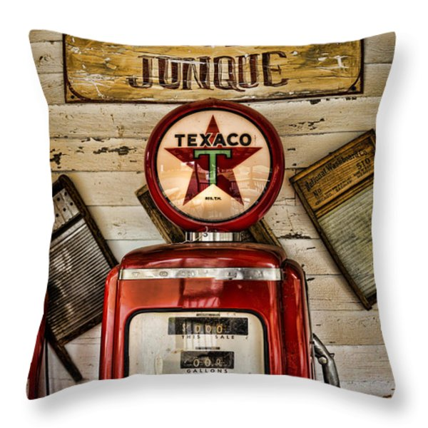 Antiques and Junque Throw Pillow by Heather Applegate