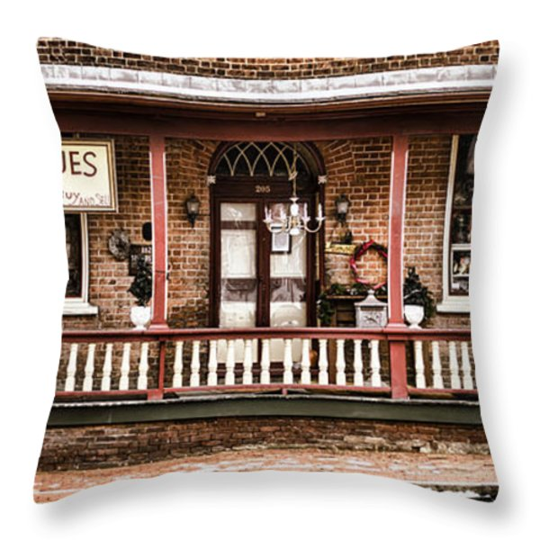 Antiques Bought And Sold Throw Pillow by Heather Applegate