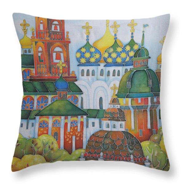 Antiquity-sergiev Posad Throw Pillow by Khromykh Natalia