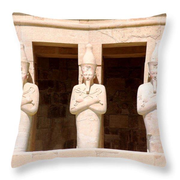 Anubis Throw Pillow by A Rey