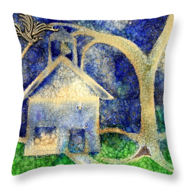 Anyone Lived In A Pretty How Town Throw Pillow by Jane Autry