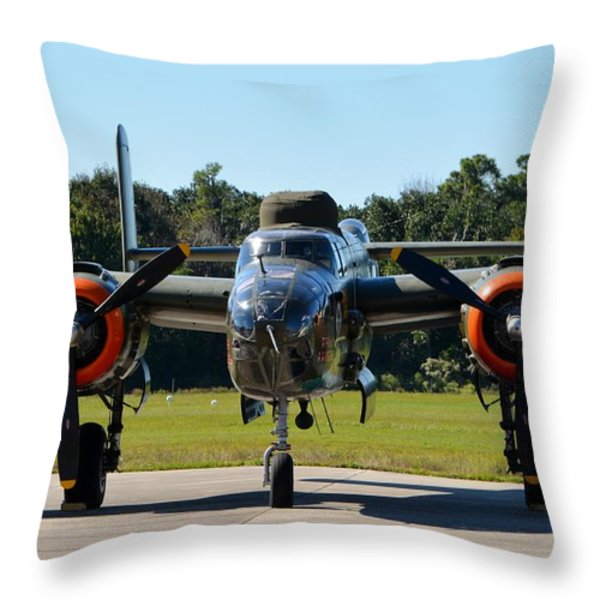 Apache Princess Throw Pillow by Matt Abrams