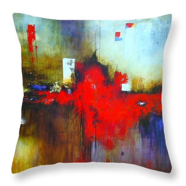 Apariencias Throw Pillow by Thelma Zambrano
