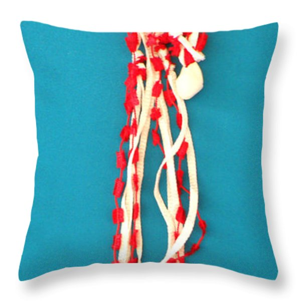 Aphrodite Genettylis Necklace Throw Pillow by Augusta Stylianou