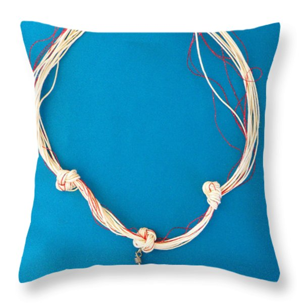 Aphrodite Genetyllis Necklace Throw Pillow by Augusta Stylianou