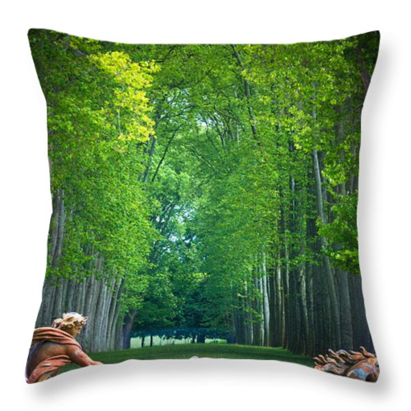 Apollo Fountain Throw Pillow by Inge Johnsson
