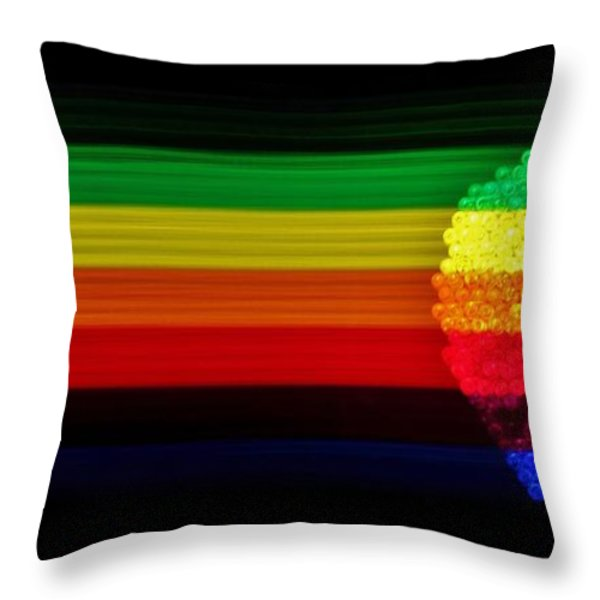 Apple Computer Inc Throw Pillow by Benjamin Yeager
