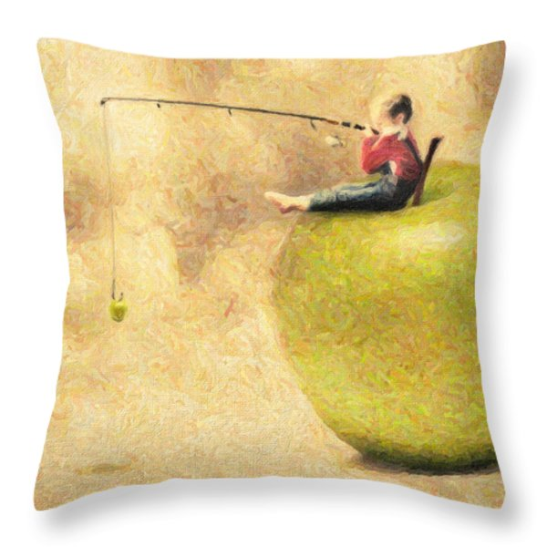 Apple Dream Throw Pillow by Taylan Soyturk