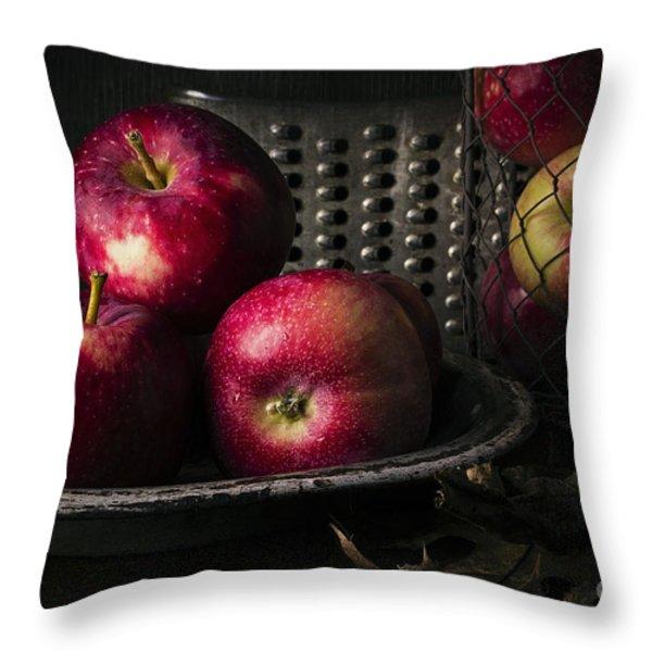 Apple Harvest Throw Pillow by Edward Fielding
