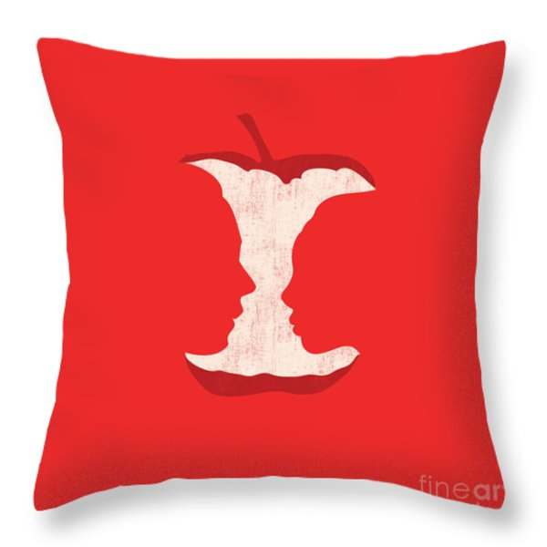 Apple of my eyes Throw Pillow by Budi Satria Kwan