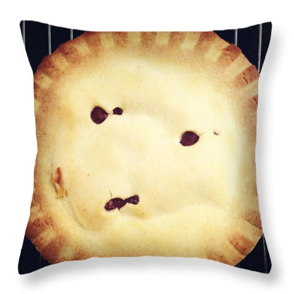Apple Pie Throw Pillow by Les Cunliffe