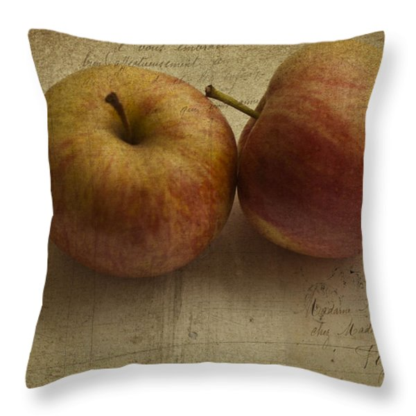 Apples Throw Pillow by Nomad Art And  Design