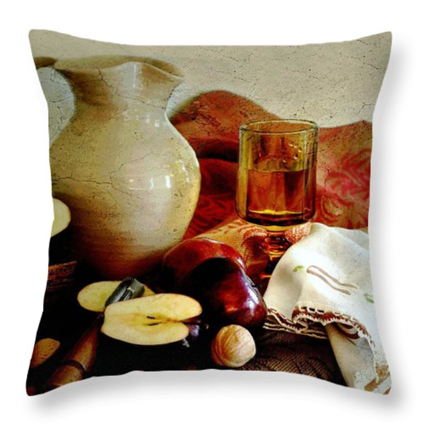 Apples Today Throw Pillow by Diana Angstadt