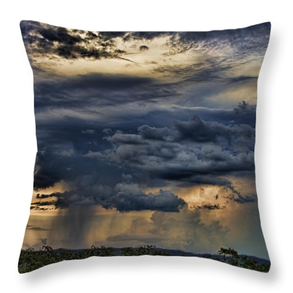 Approaching Storm Throw Pillow by Douglas Barnard