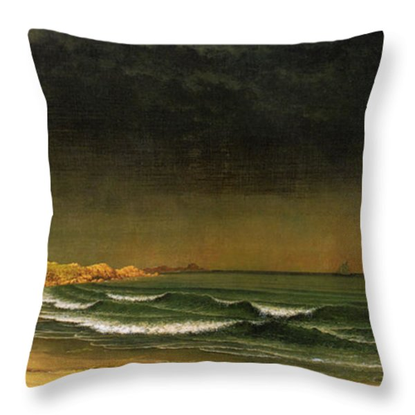 Approaching Storm Near Newport Beach Throw Pillow by Martin Heade