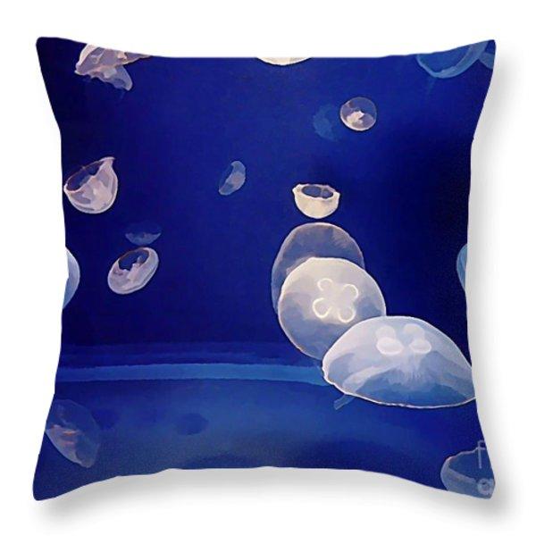 Aqarium Life Throw Pillow by Halifax artist John Malone