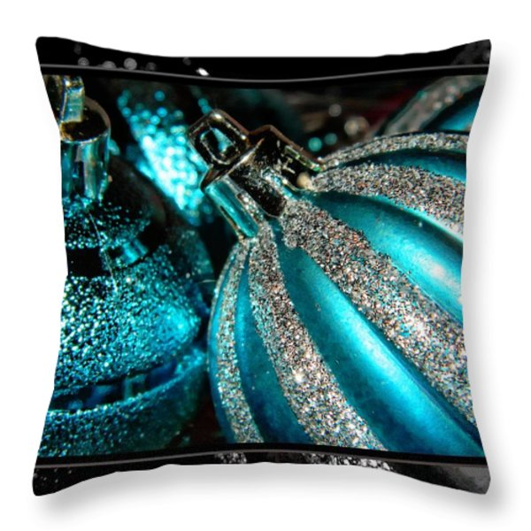 Aqua Baulbs Throw Pillow by Michelle Frizzell-Thompson