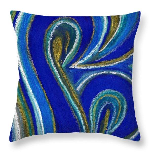Aqua In Motion IIi Throw Pillow by Carla Sa Fernandes
