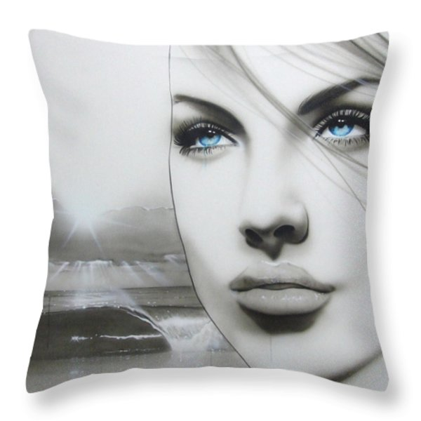 'aqua Marine' Throw Pillow by Christian Chapman Art