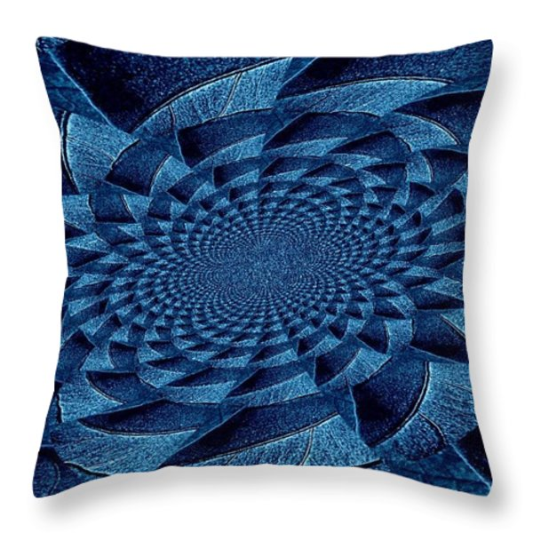 Aqua Tint Memories Throw Pillow by Chris Berry