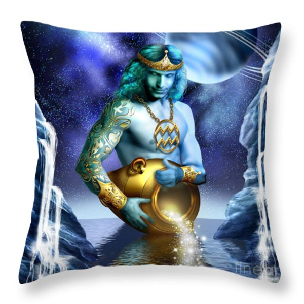 Aquarius Throw Pillow by Ciro Marchetti