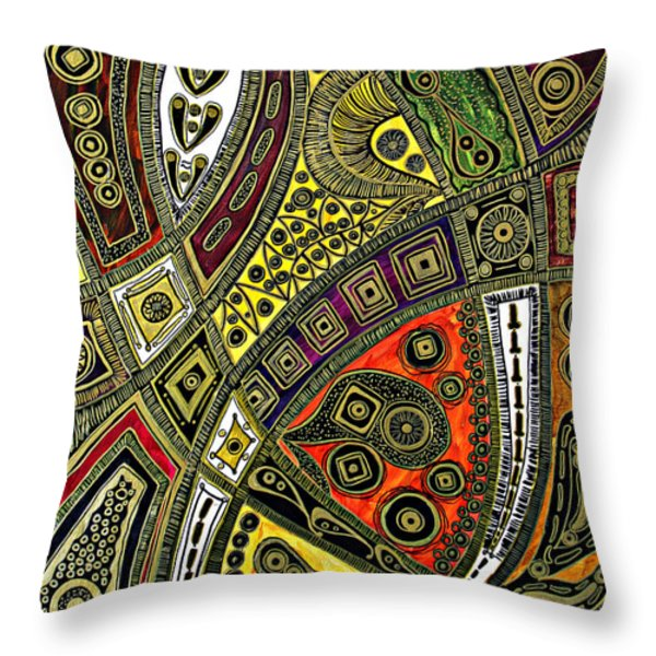Arabian Nights Throw Pillow by Jolanta Anna Karolska