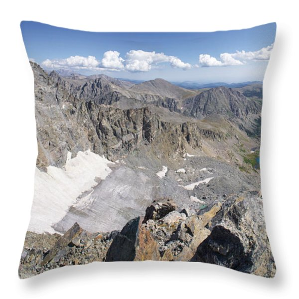 Arapaho Glacier Throw Pillow by Aaron Spong