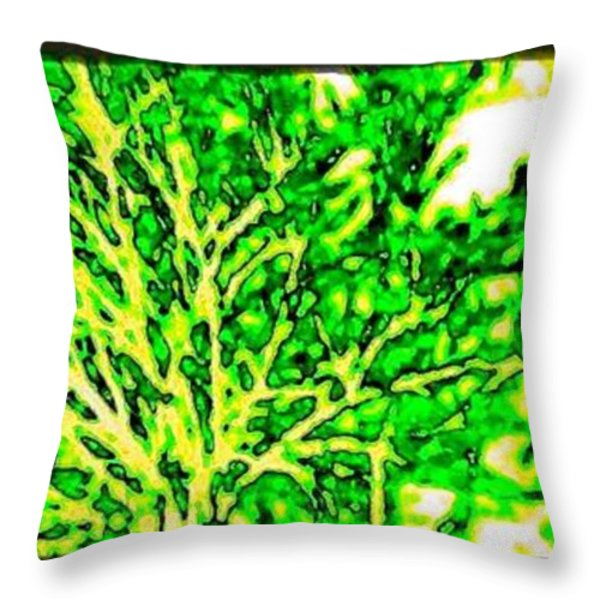 Arbres Verts Throw Pillow by Will Borden