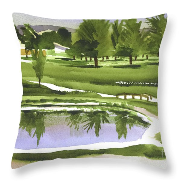 Arcadia Valley Country Club Throw Pillow by Kip DeVore