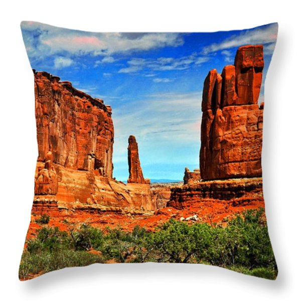 Arches 15 Throw Pillow by Marty Koch