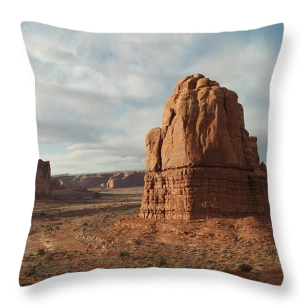 Arches National Park Throw Pillow by Jeff  Swan