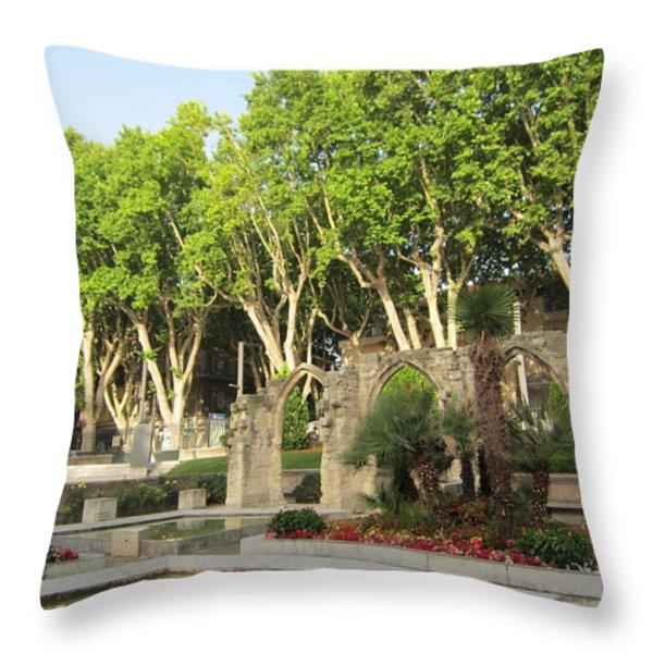 Arches Throw Pillow by Pema Hou