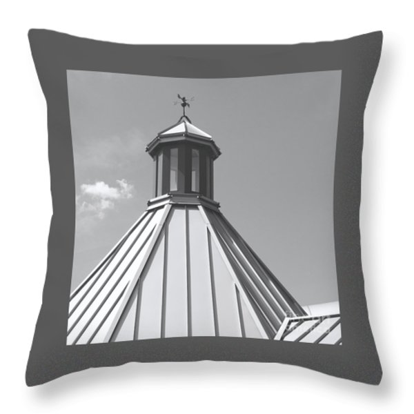 Architectural Gray Throw Pillow by Ann Horn