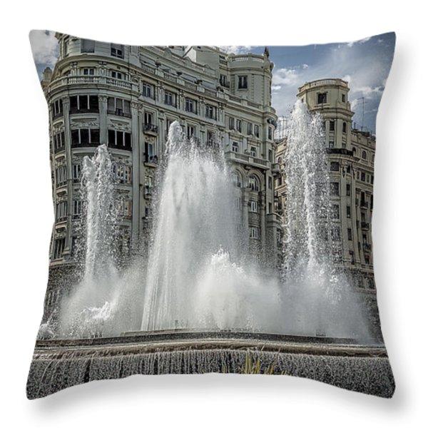 Architecture Valencia V Throw Pillow by Erik Brede