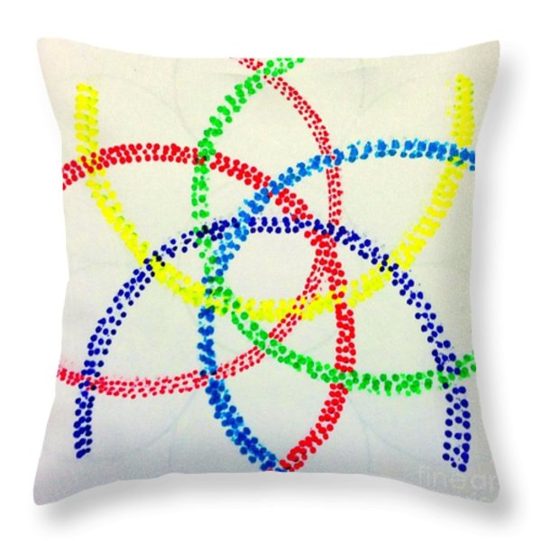 Arcs Throw Pillow by Rrrose Pix