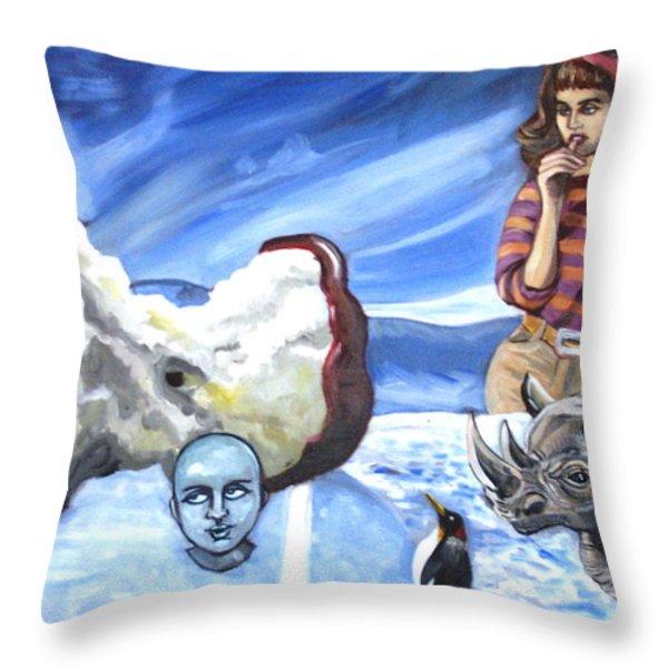 Arctic Soiree Throw Pillow by John Ashton Golden
