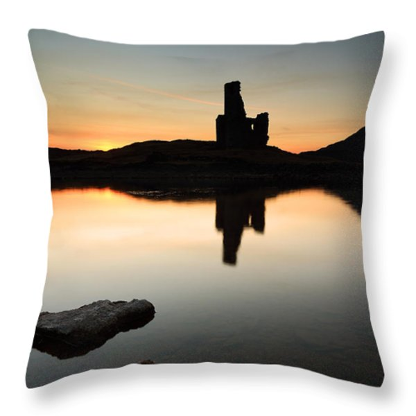 Ardvreck Sunset Throw Pillow by Grant Glendinning