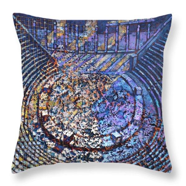 Arena Song Throw Pillow by Mark Howard Jones