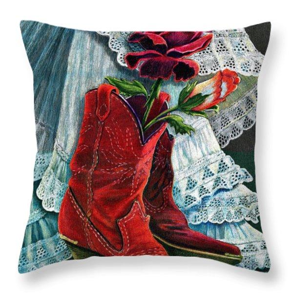 Arizona Rose Throw Pillow by Marilyn Smith