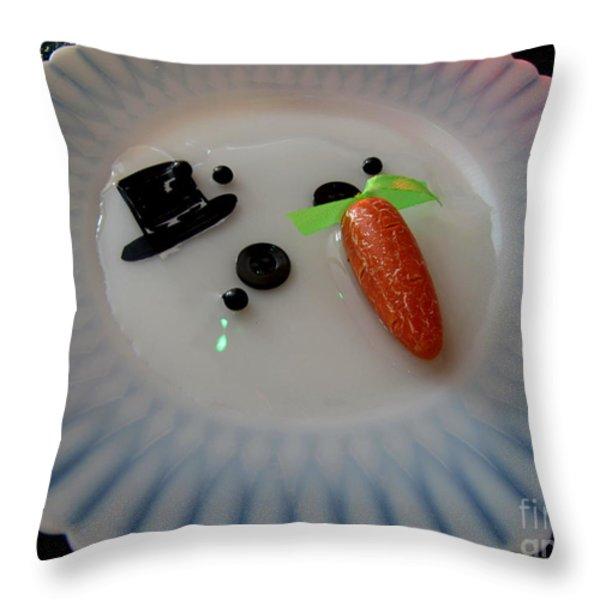 Arizona Snowman Throw Pillow by Marilyn Smith