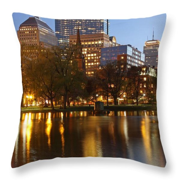 Arlington Street Church Throw Pillow by Juergen Roth