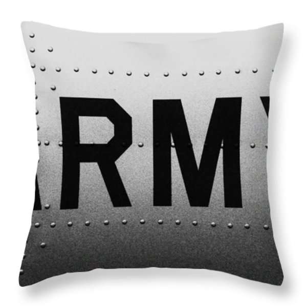 Army Strong Throw Pillow by Benjamin Yeager