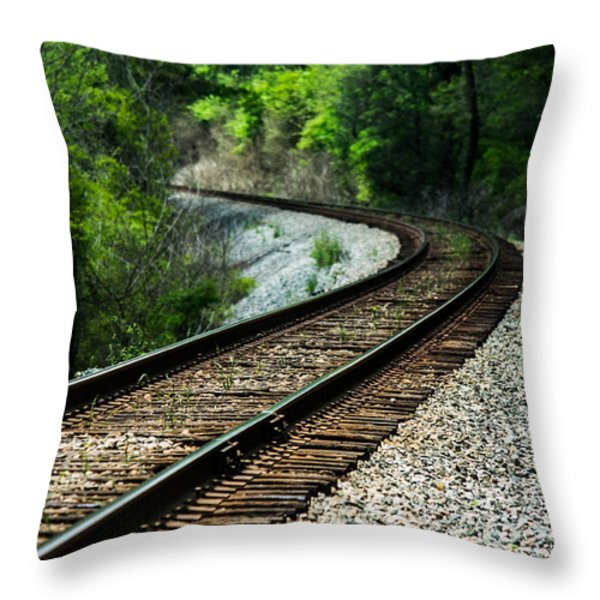 Around The Bend Throw Pillow by Parker Cunningham