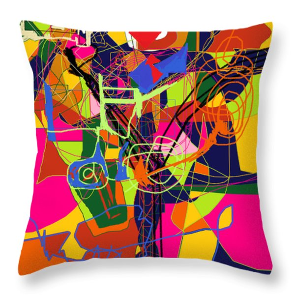 Art And Writing 2 Throw Pillow by David Baruch Wolk
