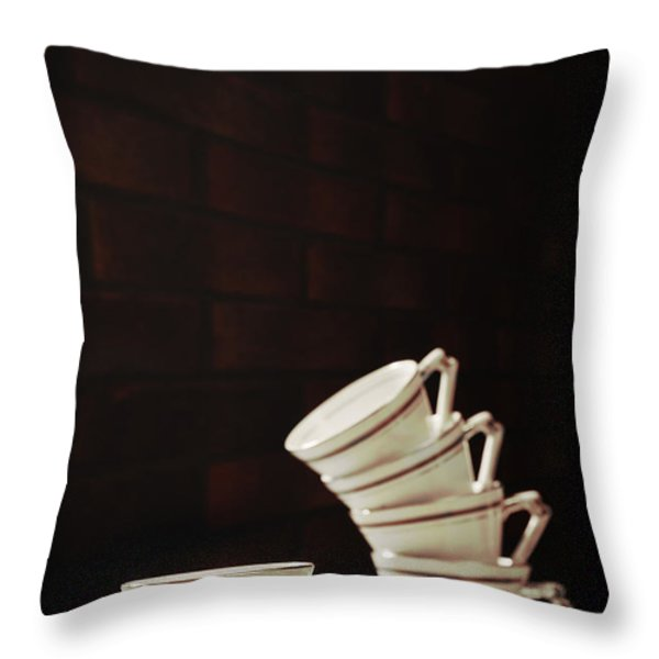 Art Deco Teacups Throw Pillow by Amanda And Christopher Elwell