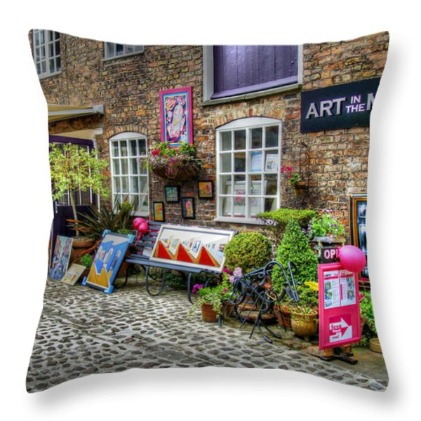Art In The Mill Throw Pillow by Michael Braham