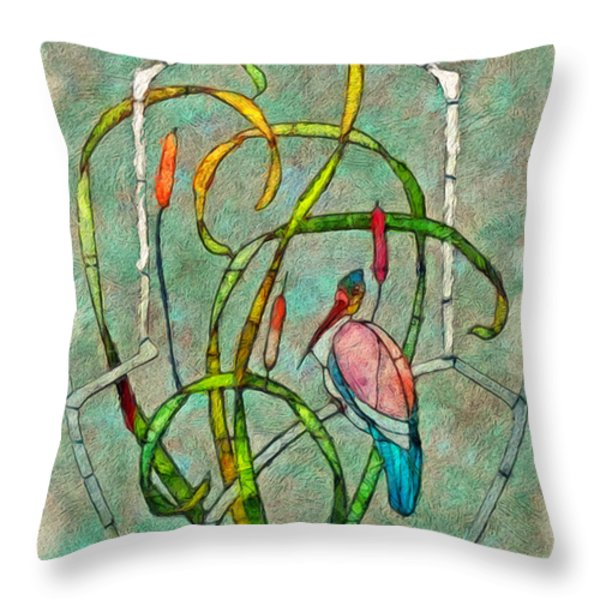Art Nouveau Throw Pillow by Jack Zulli