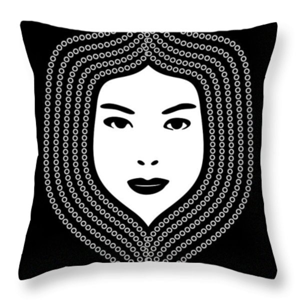 Art Nouveau Portrait 457 Throw Pillow by Frank Tschakert