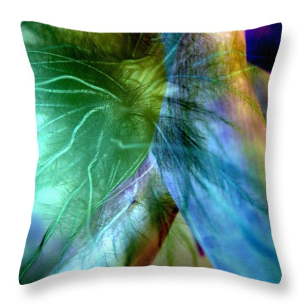 Art Of Deception Throw Pillow by Shirley Sirois